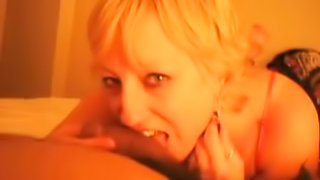 blonde mom Helga is a cock addict