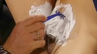 Slim and pretty Turkish girl gets her pussy shaved and fucked