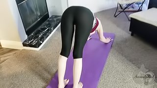 Brother fucks Step Sister doing yoga - HUGE Anal Creampie FULL VIDEO