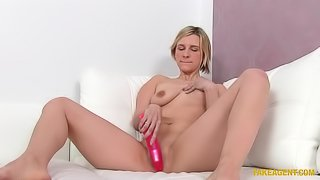 Pretty Blonde Is Low On Cash So She Sucks And Fucks Agent