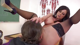 Pretty busty mature lady Kendra Lust in very sexy lingerie