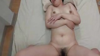 Pretty Japanese Mature's Cunt Creampied