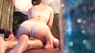 Sweet Asian girl gets her pussy massaged with a big fat dick