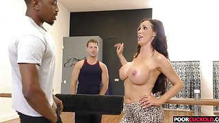 A BBC For HotWife Nikki Benz While Cuckold Watching