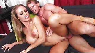 Charming yellow-haired Nicole Aniston getting fucked hard