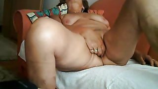 Mature gal rides dick and gets fingered in free amateur porn