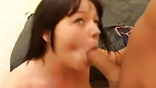 Busty Brunette Squirts Everywhere