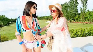Two babes Lady Dee and Veronica Clark are both enjoying anal