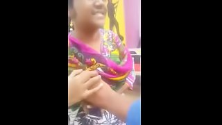 Indian and Pakisthan girls boobs pressed