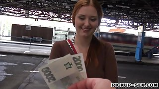 Busty Eurobabe Helen fucked and squirts for some money