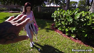 Hailey Little in Petite cutie shows her wild side - BangBus