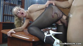 Anal-Pantyhose Video: Barbara and Nicholas