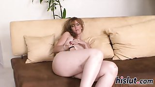 Horny housewife rides on a BBC