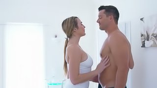 Ramon is glad to give this babe his cock so that she can ride it