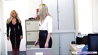 Hot and sexy officer Candy Sexton sucks a huge cock and fucks big time