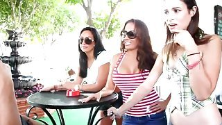 Amber Rayne, Richelle Ryan and Tiffany Brookes in fantastic hardcore group xxx video