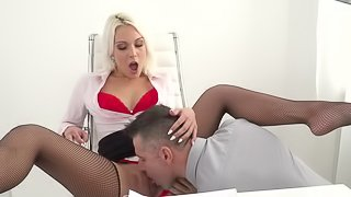 Cecilia Scott sure loves two dicks in her tiny holes