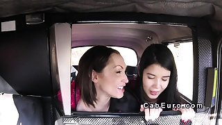Threesome robbers in fake taxi sex