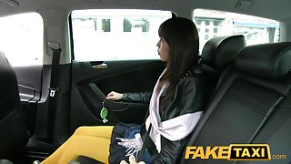 FakeTaxi: Japanese tourist acquires her taut love tunnel screwed