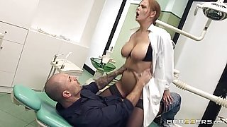BJXCAM.COM Busty Russian dentist Candy Alexa dominates her patient