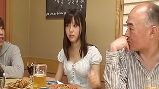 Sassy Japanese babe takes home two studs for a wild threesome