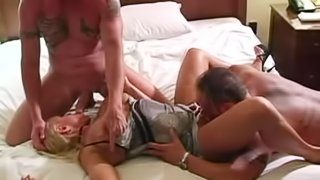 Blonde Has Anal Sex with Two Dudes