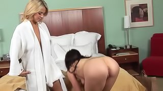 Icy hot ffm threesome with two adorable amateur pornstars