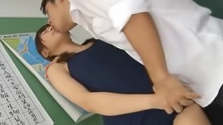 Schoolgirl In A Tight Outfit Gets Fucked On The School Desk