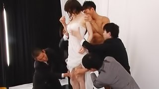 Horny Japanese ho shows how much she loves wang
