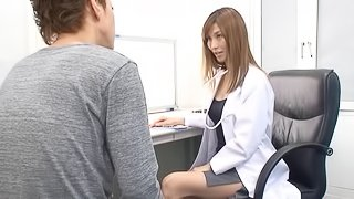 Wet Japanese doctor pussy can cure any ailment he has
