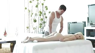 Massage Leads to Fucking Huge Facial For college girl