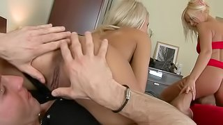 Perfect Ass Babe And Her Friend Loves Foursome Sex