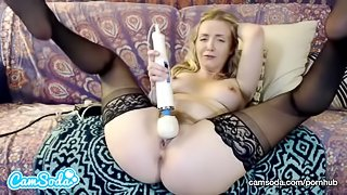 karla kush massaging pussy with vibrator until she squirts for big tit fans