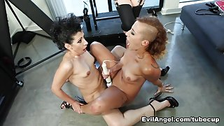 Crazy pornstars Andre Shakti, Kinky Gaga, Aiden Starr in Exotic Lesbian, Big Tits sex video