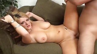 Cute Bubbly Blonde Loves A Large Cock