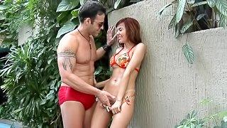 Incredible Haily Gets Assfucked By A Muscular Guy Outdoors