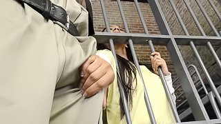 Ebony in prison refined hardcore missionary then swallowing cum