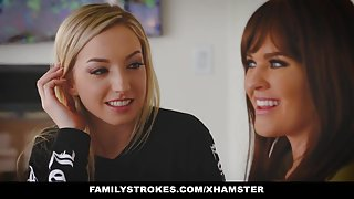 FamilyStrokes - Seduce By Lesbian Step-Mom To Fuck
