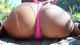Outdoors ass fucking for slutty babe