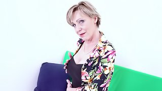 Hot and horny grandma from czech republic finger masturbation and toying