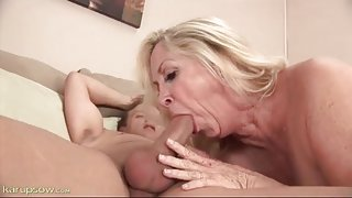 Bald mature pussy fucked hard by his shaved cock