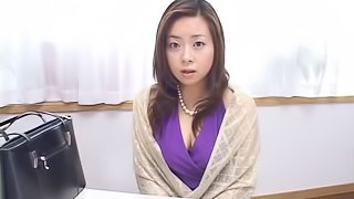 Giving, sexy, mature Asian woman gets her hairy hole hammered