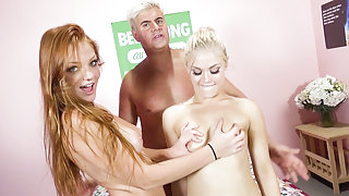 Ash Hollywood,Farah Flowers,Porno Dan in Blissful Fucking with Ash Hollywood And Farah Flowers Video