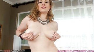 Curvy mother I'd like to fuck Vicky Vixen Orally Taming Trouser Snake