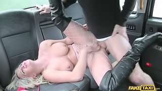 Sexy blonde in rough anal sex
