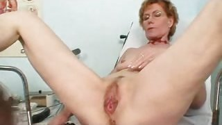Mature slut at gyno doctor