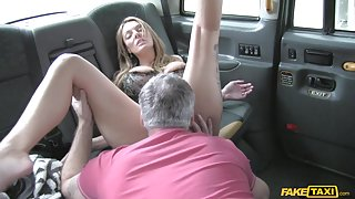 Stacey in Sexy mature milf in lingerie - FakeTaxi