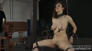 Electrodes On Nipples And Ass Torture