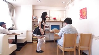 Japanese Cafe Maid Sucks and Swallows Part two