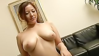 Asian Babe Meisa Hanai Sucks Two Cocks Until Getting her Big Boobs Jizzed On